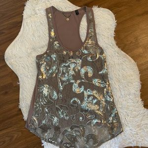 BKE Boutique Sequined Tank Top